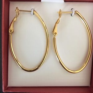 Gold earrings from QVC